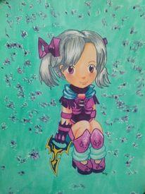 Mädchen, Malerei, Menschen, Anime