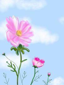 Blume1, Malerei, Pflanzen