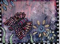 Doodelart, Schmetterling, Malerei
