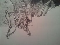 Entstehung, Skizze, Fantasie, Malerei