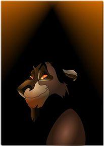 Fanart, König der löwen, Malerei, Gefahr