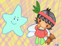 Digital, Comic, Kindgerecht, Malerei