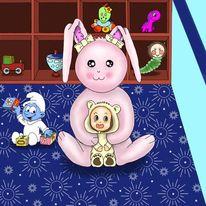 Chibi, Malerei, Menschen, Kinderzimmer