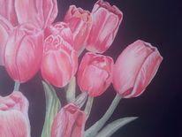 Aquarellmalerei, Blumen, Tulpen, Malerei