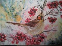 Natur, Aquarellmalerei, Tiere, Malerei