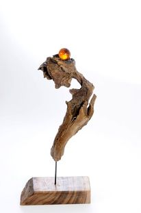 Baum, Modern, Skulptur, Holz