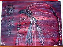 Traum, Indisch, Gemälde, Farben