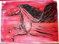 Farben, Gemälde, Pegasus, Rot