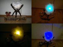 Holz, Steinkunst, Tischlampe, Uv licht