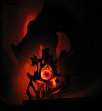 Led, Steinkunst, Feuer, Lampe holz