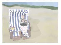 Strandkorb, Meer, Strand, Urlaub
