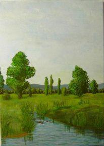 Ölmalerei, Stimmung, Landschaftsmalerei, Lasurtechnik