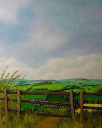 Landschaft, Acrylmalerei, Stimmung, Malerei