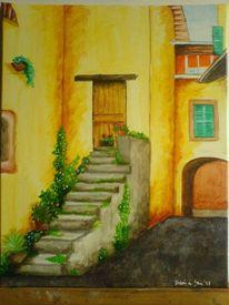 Malerei, Acrylmalerei, Enge, Gasse