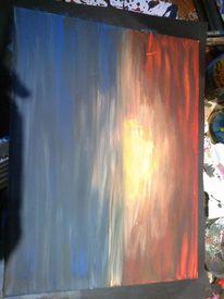 Gegenständlich, Rot, Acrylmalerei, Malerei