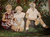 Acrylmalerei, Kinder, Kindergruppe, Malerei