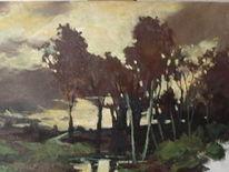 Sonnenuntergang, Acrylmalerei, Malerei,