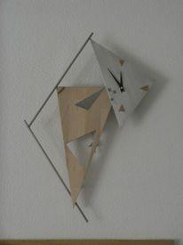 Einzelstück, Metall, Modern, Holz
