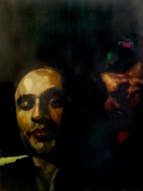 Gemälde, Farben, Portrait, Malerei