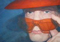 Gemälde, Portrait, Malerei, Farben