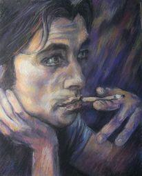 Menschen, Gemälde, Mann, Pastellmalerei