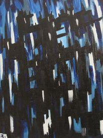 Gothik, Blau, Einsamkeit, Acrylmalerei