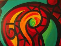 Grün, Ölmalerei, Gelb, Rot
