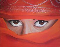 Afghanin, Malerei