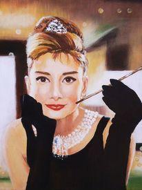 Audrey hepburn, Zigarette, Frauenportrait, Frühstück