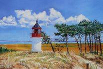 Ostsee, Malerei, Leuchtturm, Hiddensee