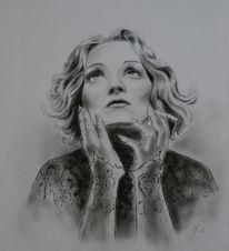 Imit, Frauenportrait, Zigarette, Weiß
