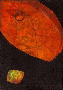 Abstrakt, Adlerauge, Ölmalerei, Kontrast