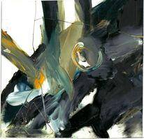 Ocker, Schwarz weiß, Abstrakt, Kontrast