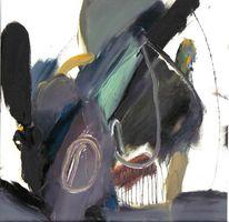 Gelb, Bunt schwarz, Ölmalerei, Ocker