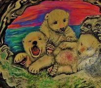 Eisbär, Höle, Malerei