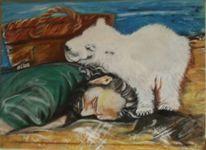 Knut, Elbe, Sand, Eisbär