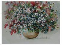 Blumen, Duftig, Vase, Bunt