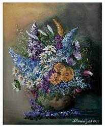 Blüte, Vase, Blau, Abgefallene blüten