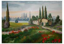 Blumen, Toskana, Haus, Ferien