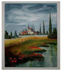 Gewitter, Malerei, Toskana