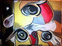 Gelb rot, Abstrakt, Gold, Fantasie