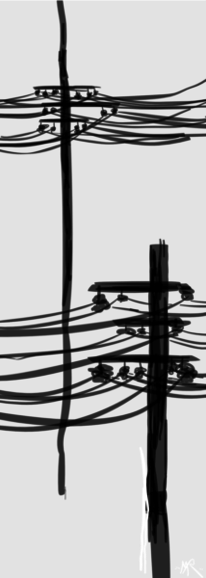 Telegraphenmasten, Digitale kunst