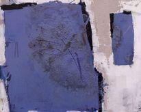 Struktur, Blau, Weiß, Asche