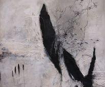 Gemälde, Schwarz weiß, Oberfläche, Collage