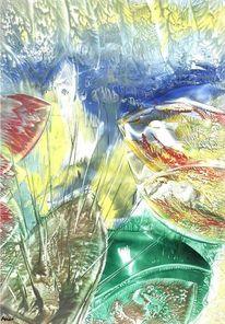 Aquarium, Unterwasser, Pflanzen, Malerei