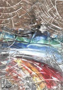 Welle, Naturgewalt, Landschaft, Malerei