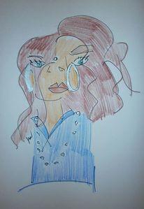 Menschen, Selbstportrait, Blindportrait, Zeichnungen