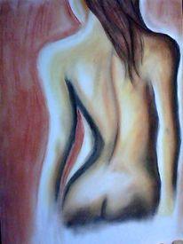 Körper, Akt, Frau, Malerei