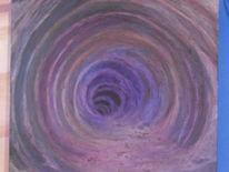 Wurmloch, Artbrut, Pastellmalerei, 2012