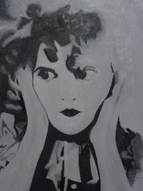 Groteske, 2012, Weiß, Ölmalerei